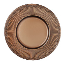 "Case of 4 Royal Brown Glass 13"" Round Charger Plates @ $20.00/pc"