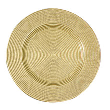"Case of 4 Rome/Metallic Gold 13"" Round Charger Plates @ $20.00/pc"