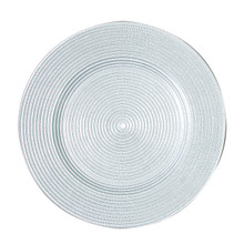 "Case of 4 Rome/Metallic Silver 13"" Round Charger Plates @ $20.00/pc"