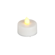 White Battery Operated LED Tea Lights with Flicker - 144 Pieces
