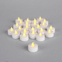 "Soft Wick Flickering LED Tea Lights with Timer (1.5""D x 1.6""H) - 48 Pieces"
