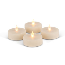 Jumbo Tea Lights, Bisque Color - 48 Pieces