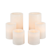 Wax 1000 Hr Candle Set with Timer, 3 Inch Diameter - 2 Sets of 6 (12 candles total)