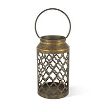Large Galvanized Ogee Design Indoor/Outdoor Lantern - 2 Lanterns