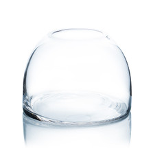 Clear Dome Shape Terrarium Bowl Glass Vase, 5.7 Inches High - 6 Pieces