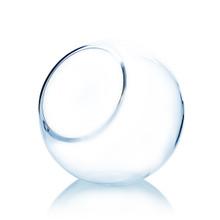 8 Inch Clear Slant Bubble Bowl Vase - 6 Pieces