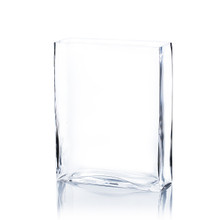 "6"" x 2"" x 12"" Clear Rectangle Block Vase - 6 Pieces"
