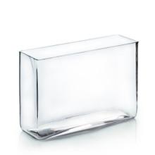 """4"""" x 12"""" x 10"""" Clear Round Rectangular Vase - 6 Pieces"""