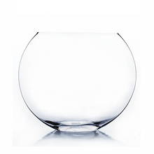 10 Inch Clear Moon Bowl Vase - 6 Pieces