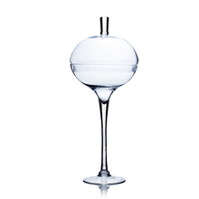 28 Inch Clear Unique Ball on Stand Vase