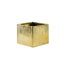 6 Inch Gold Square Cube - 12 Pieces