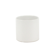 "3.75"" x 4"" White Cylinder Ceramic - 24 Pieces"