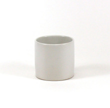 "5.5"" x 5"" White Cylinder Ceramic - 12 Pieces"