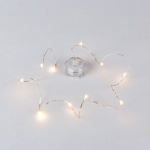 Tea Light w Light String - 12 Pieces