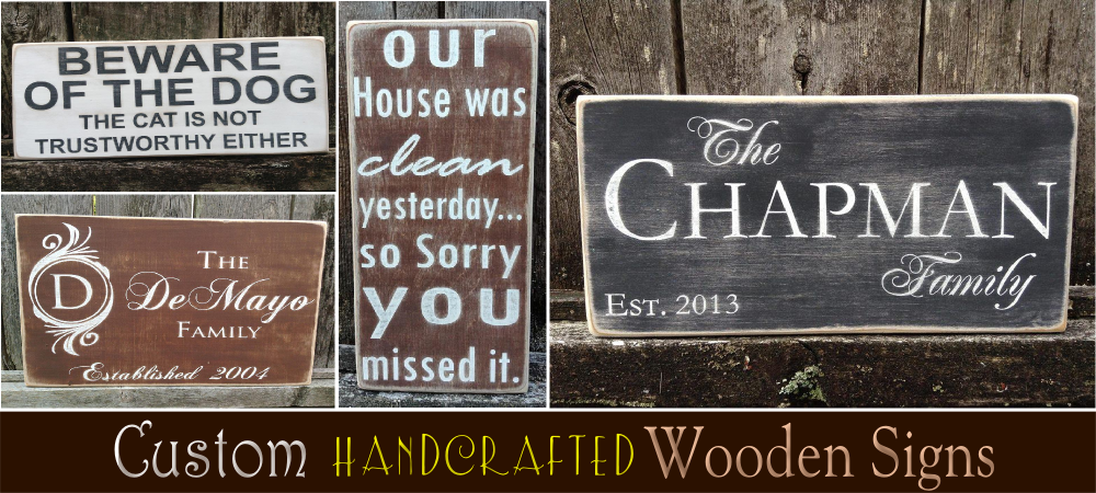 wood signs