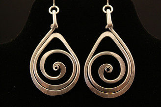 Spiral Teardrop Earrings