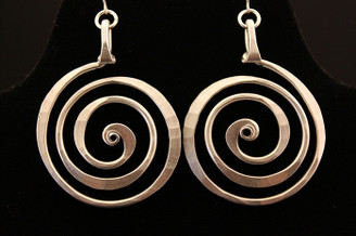 Spiral Circle Earrings