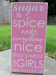 Sugar and Spice and Everything Nice, that's what Little Girls are made of sign