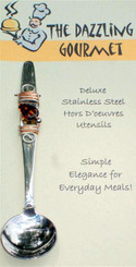 Condiment Spoon with Tortoise Shell Bead