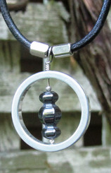 infinite jewellery stainless steel pendant with hematite stone