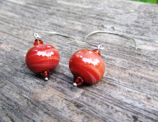 treat designs glass earrings