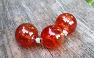 orange glass necklace