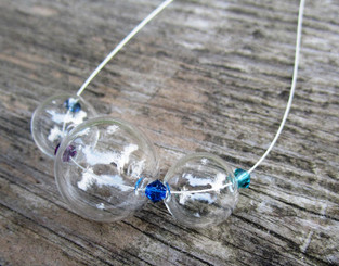 treats jewellery glass bubble necklace