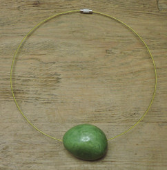gift idea tagua bead necklace - green