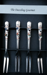 appetizer forks with stone beads