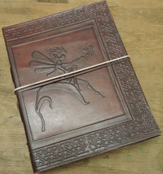 fairy leather journal - old world style
