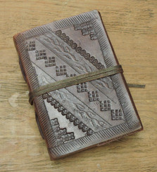 extra small old world style leather journal