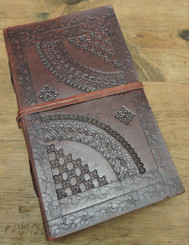 old world handcrafted leather journal with lined paper