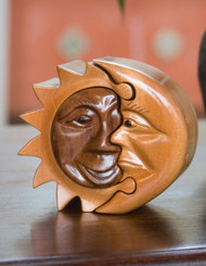 Handcrafted Puzzle Box - Sun & Moon - SMALL