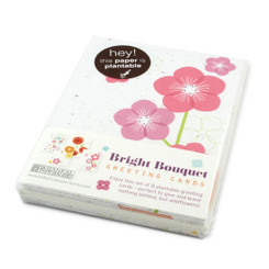 bright bouquet plantable seed card set