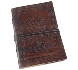 Celtic tree of life leather journal 7 x 5