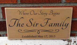 Where Our Story Begins Sign Plaque