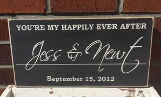 Family Name Plaque - You're My Happily Ever After