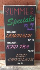 custom business sign for cafe