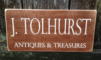 wood sign for business