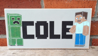 Minecraft Kids Sign