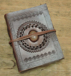 Old World Embossed Journal with Stone