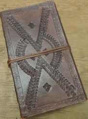 embossed leather journal - lined paper