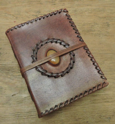 Old World Journal Stitched with Stone