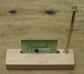 maple pen and case with business card slot