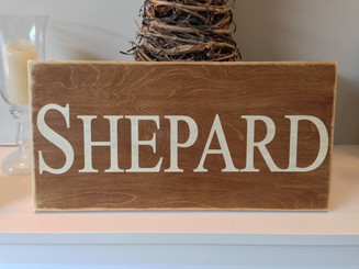 Family Name Wood Plaque