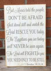 Exodus 14:13-14 sign