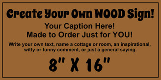 Shabby Chic Signs - Make Your Own 8 x 16