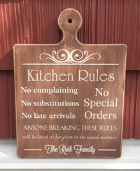 Kitchen Rules - personalized bread board