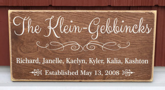 Farmhouse style family sign