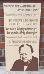 Winston Churchill Quote Sign